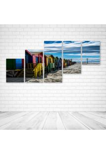 Quadro Decorativo - Muizenberg - Composto De 5 Quadros - Multicolorido - Dafiti