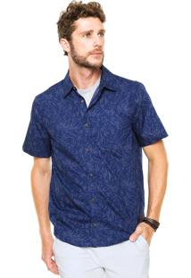 Camisa Hering Slim Folhagem Azul