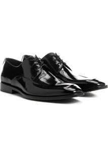 Sapato Social Couro Shoestock Platina - Masculino-Preto