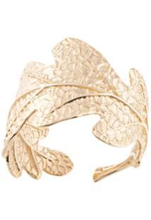 Karen Walker Anel Oak Leaf De Ouro 9Kt - Dourado