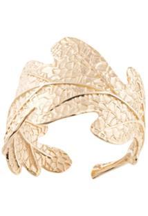 Karen Walker Oak Leaf Ring - Dourado