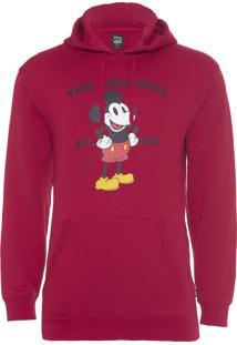 Jaqueta Masculina Moletom Mickey - Vermelho
