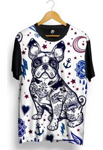 Camiseta Bsc Bulldog Tatoo Color Full Print - Masculino