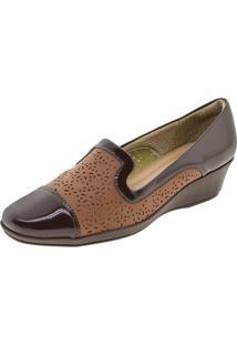 Sapato Feminino Anabela Café Piccadilly - 144018