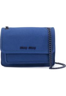 Miu Miu Bolsa Tiracolo Com Logo De Letra - Azul