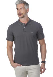 Camisa Polo Javali Bordado Chumbo