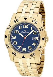 Relógio Champion Sport Ca31551O Analógico Feminino - Feminino-Dourado+Azul