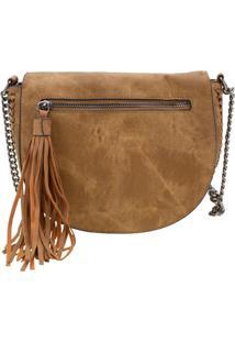 Bolsa Feminina Transversal Arara Dourada - H406 Caramelo