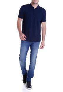 Calca Dudalina Denn Malha Masculina (Jeans Medio, 46)