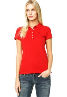 d9003dc95f ... Camisa Polo Tommy Hilfiger New Chiara Vermelha