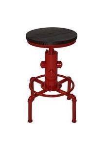 Banqueta Industrial Extintor Vermelha Base Metal 75 Cm (Alt) - 37876 Vermelho