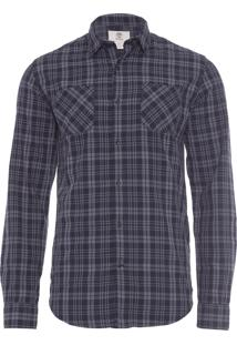 Camisa Masculina Warner River - Preto