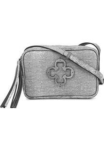 Bolsa Couro Capodarte Mini Bag Snake - Feminino-Grafite