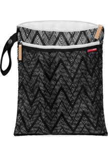 Bolsa Wet And Dry Skiphop On-The-Go Zig Zag Zebra Preto