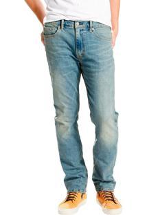 Calça Jeans Levis 513 Slim Straight Indigo Média Azul