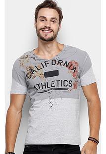 Camiseta Calvin Klein Gola V Flowers California Masculina - Masculino