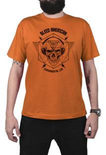 Camiseta Bleed American Experimental Laranja