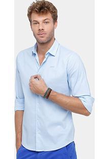 Camisa Colcci Tricoline Bordada Masculina - Masculino