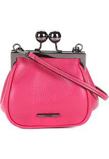 Bolsa Couro Carmim Mini Bag Fátima Feminina - Feminino-Pink