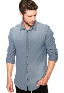 Camisa Colcci Textura Azul