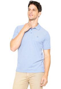 Camisa Polo Broken Rules Bordado Azul