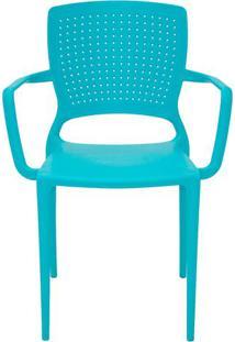 Cadeira Safira- Verde ÁGua- 85X59X50Cm- Tramontitramontina