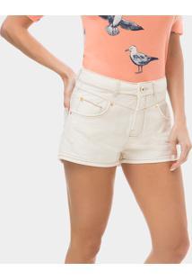 Shorts Miami Cintura Alta Branco - Lez A Lez