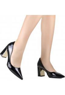 Sapato Bebecê Scarpin Salto Grosso