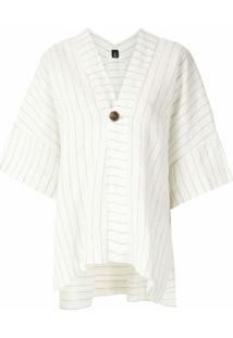 Osklen Blusa Com Recortes Em Linho - Branco