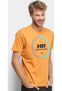 Camiseta Hd Gradient Masculina - Masculino-Amarelo