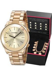 Kit Relógio Mondaine Feminino Com Pulseira Constelações 32149Lpmkde1K1