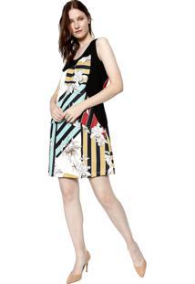 9b19430117d5 Ir para a loja; Vestido Estampado Energia Fashion Multicolorida