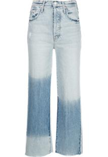 Mother Calça Jeans Cropped The Rambler - Azul