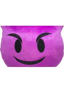 Almofada Capital Do Enxoval Emoji Menino Mal Sorridente Estampado