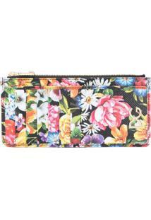 Dolce & Gabbana Carteira Com Estampa Floral - Preto