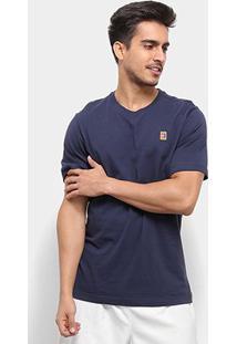 Camiseta Nike Court Heritage Masculina - Masculino-Azul Escuro