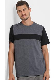 Camiseta Burn Mesclada Bicolor Masculina - Masculino