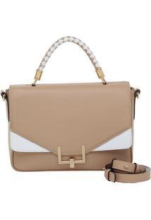 Bolsa Smartbag Couro Alça De Mão - 73049.18 - Feminino-Marrom