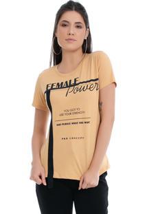 T-Shirt Pkd Concept Eco Female Power Amarela