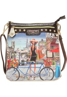 Bolsa Nicole Lee Kimbrella Bicycle Crossbody Marrom