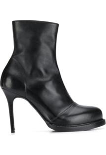 Ann Demeulemeester Ankle Boot Com Plataforma - Preto