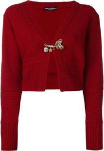 Dolce & Gabbana Cardigã Com Textura - Vermelho