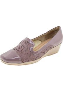 Sapato Feminino Anabela Piccadilly - 144018 Roxo