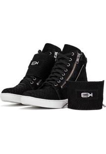 Sneaker K3 Fitness Breezy Preto