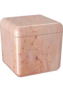 Porta-Algodão Cube Rosé