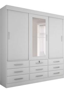 Guarda-Roupa Casal Com Espelho Sonare 3 Pt 9 Gv Branco
