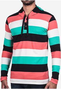 Camiseta Henley Listrada 102160