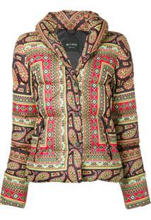 Etro Paisley Print Puffer Jacket - Preto