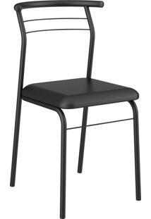 Kit 2 Cadeiras 1708 Napa Preto Móveis Carraro