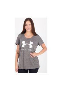 Camiseta Under Armour Tech Sportstyle Graphic Feminina Cinza